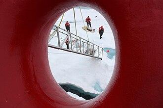 Chukchi Sea - Scientists on the sea ice in the Chukchi Sea.