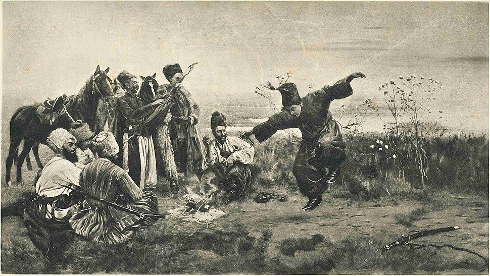 Stanislaw Maslowski (1853-1926), Cossacks Dance, 1883
