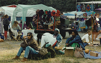 Shakedown Street (vending area) - Vendors and concert attendees at the Starlight Mountain Festival