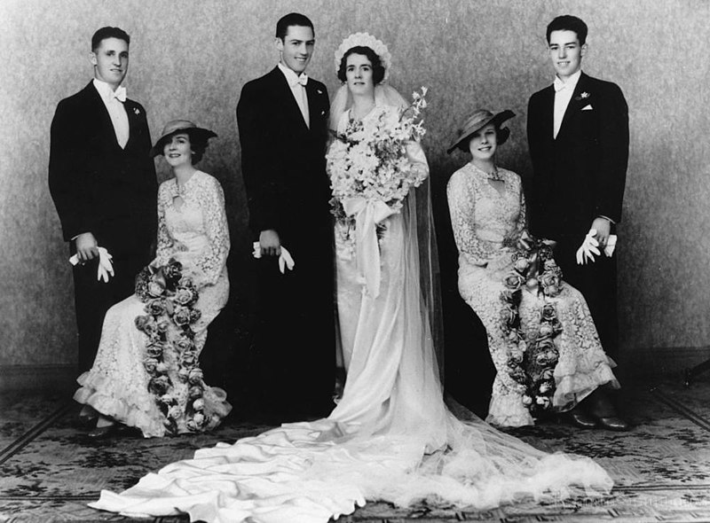 File:StateLibQld 1 174063 Eric and Lillian Webster on their wedding day, 1934.jpg
