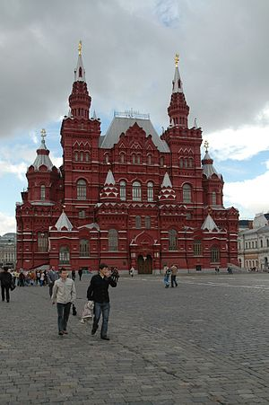 Vladimir Osipovich Sherwood - State Historical Museum, as seen from Red Square, by Vladimir Osipovich Sherwood