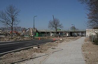 Dronten railway station - Train station of Dronten under construction (April 2009)