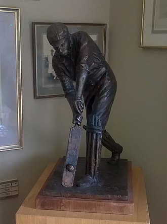 Hampstead Cricket Club - Statue commemorating Stoddard's score of 485, in the clubhouse at Hampstead.