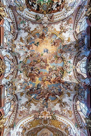 Ceiling fresco at Wilhering Abbey Church