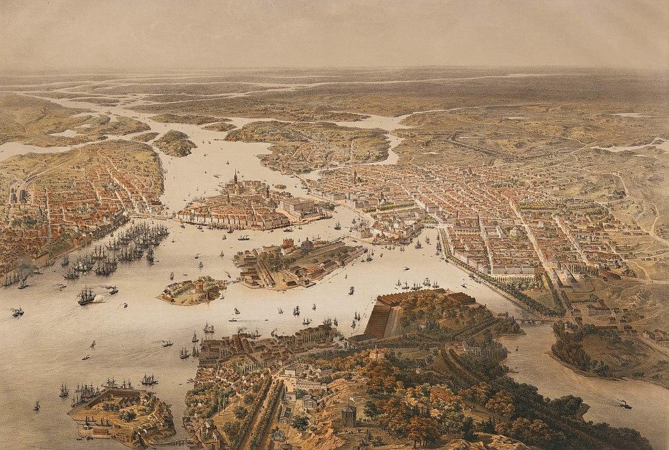 Stockholm panorama 1868