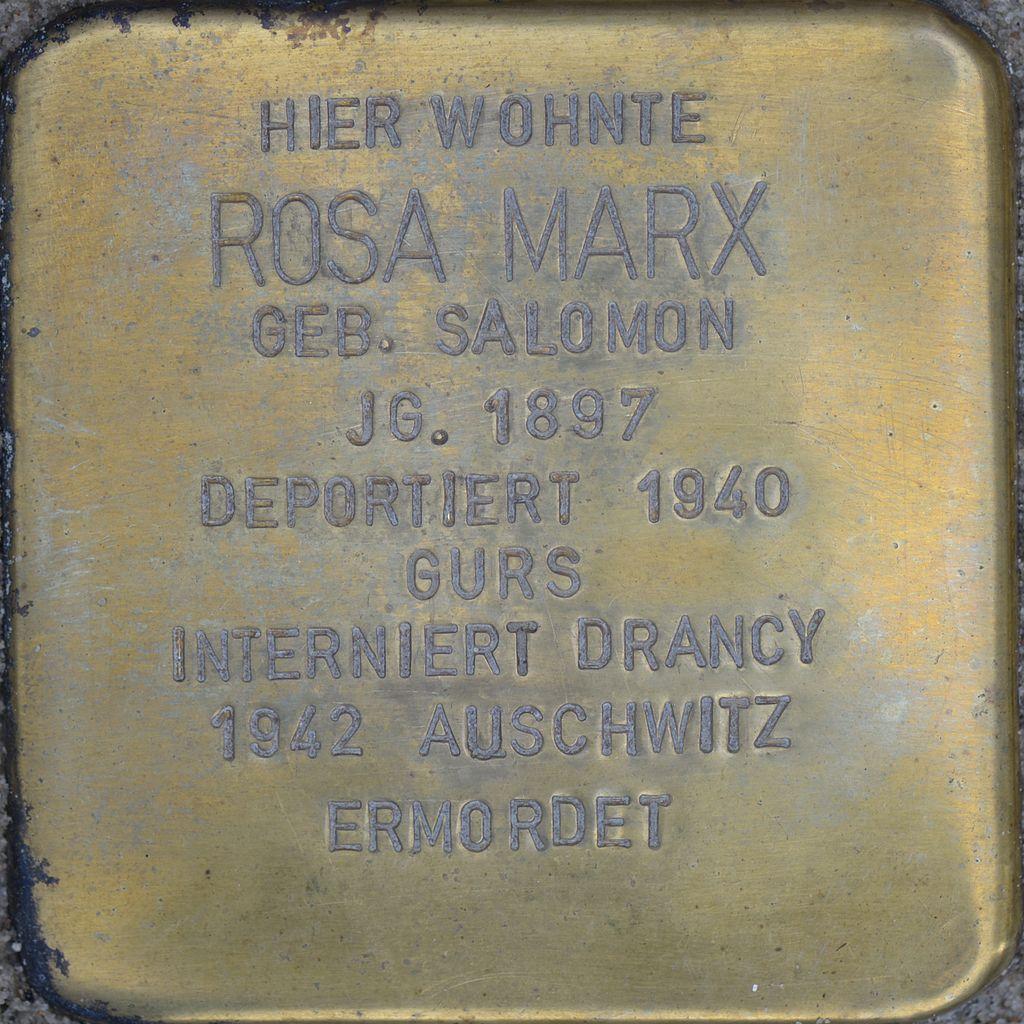 Stolperstein - Marx, Rosa (2016).jpg