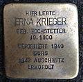 Stolperstein Karlsruhe Erna Krieger Kriegsstr 88 (fcm).jpg