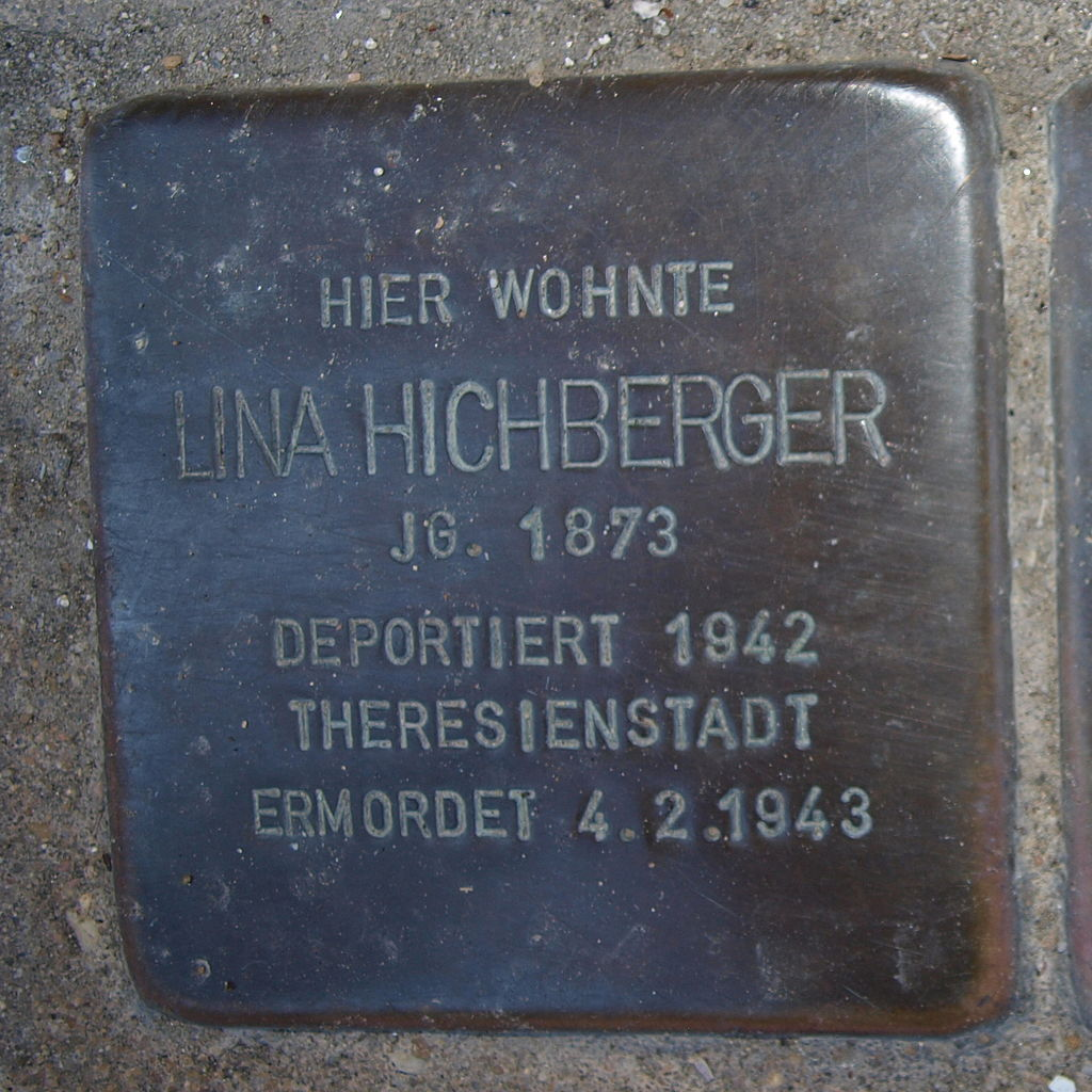 Stolperstein Kitzingen Obere Bachgasse 26 Lina Hichberger