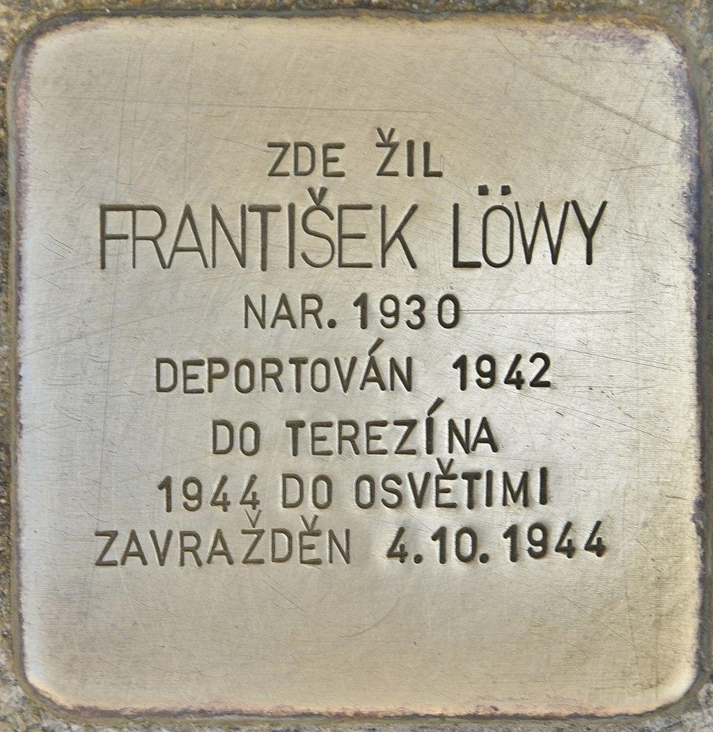 Stolperstein für Frantisek Löwy (Horaždovice).jpg