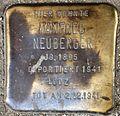 Stumbling block for Manfred Neuberger (Alteburger Straße 11)