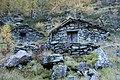 Stonemade alpine huts near ravine Febbraro (1487 m.a.s.l.) - in Valchiavenna, Province of Sondrio, Lombardy, Italy - 2017-10-15.jpg