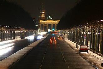 Boulevard - The Straße des 17. Juni in Berlin, Germany.