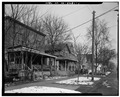Streetscape facing Southeast, 1st house on left - 2332-2334 West Tenth Street (House), Cleveland, Cuyahoga County, OH HABS OHIO,18-CLEV,42-1.tif