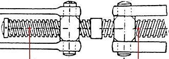 Turnbuckle - Image: Stretching screw; spannschraube