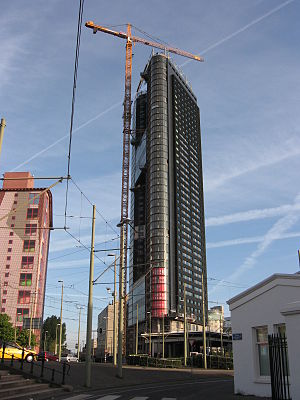 Het Strijkijzer - Het Strijkijzer nearing completion in April 2007.