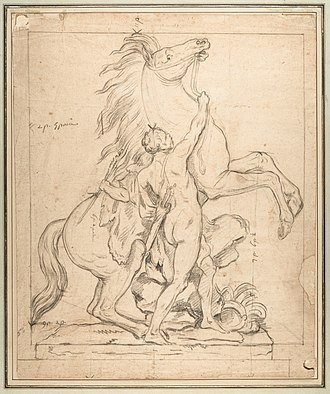 Guillaume Coustou the Elder - Image: Study for one of the 'Chevaux de Marly' MET DP135655