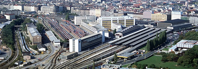 Suedbahnhof from arsenal tower vienna.jpg