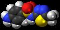 Sulfamethizole molecule spacefill.png