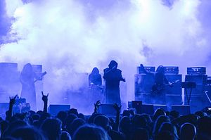 Sunn O))) - Sunn O))) performing in robes at Brutal Assault 2015
