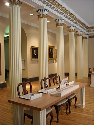 Old Mississippi State Capitol - Image: Supreme Court Chamber in the Old Mississippi Capitol building