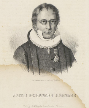Svend Borchmann Hersleb - Lithograph of Svend Borchmann Hersleb.