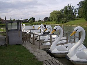 Lightwater Valley - Image: Swan Lake Boats (Light Water Valley)