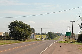 Sweetwater, Oklahoma - Looking east on Oklahoma State Highway 152.