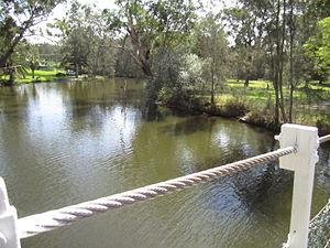 Dora Creek - Dora Creek, view from behind Avondale College