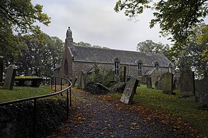 Swinton, Scottish Borders - A general view of Swinton Kirk and burial ground