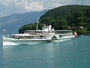 Swiss Steamboat Bluemlisalp lake Thun
