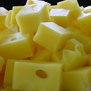 Swiss cheese - Image: Swiss cheese cubes