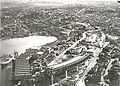 Sydney Harbour Bridge under construction North Shore aerial.jpg