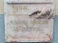 Szelmann Haus. Wasser höhe am 15 März 1838. Plakette. - 306 Nagytétényi Straße, Budapest.JPG