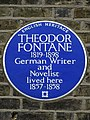 THEODOR FONTANE 1819-1898 German Writer and Novelist lived here 1857-1858.jpg