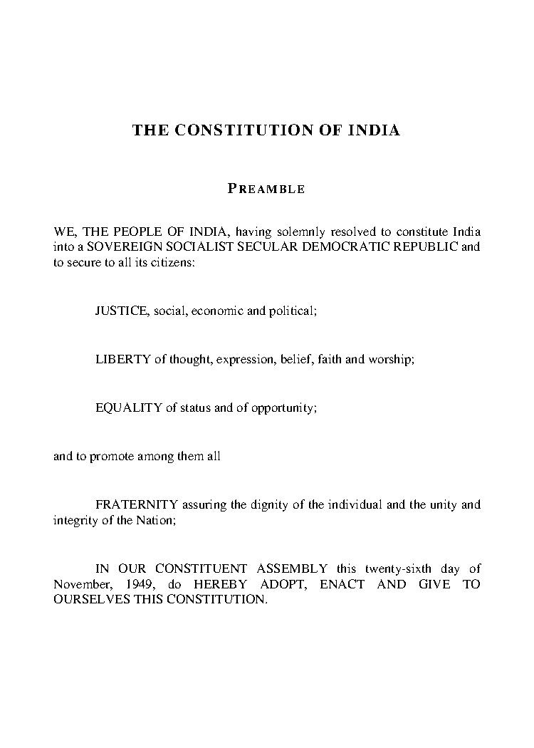 Indian Constitution in Hindi PDF Free Download