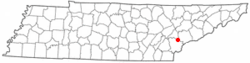 Location of Vonore, Tennessee