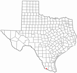 Location of Rio Grande City in the U.S. state of Texas