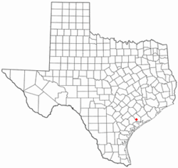 Location of Vanderbilt, Texas