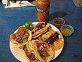Tacos - al pastor, pollo and a sunkist.jpg