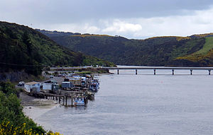 Taieri Mouth - Bridge across the estuary of the Taieri River, Taieri Mouth