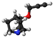 Ball-and-stick model of the talsaclidine molecule