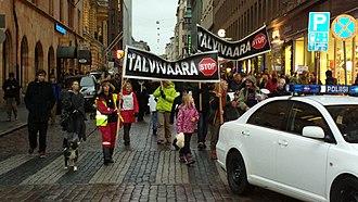 Ahtium - Demonstration against Talvivaara in Helsinki, Finland on November 14th, 2012.