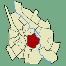 Location of Karlova in Tartu.