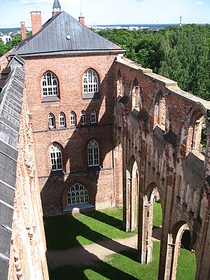 Tartu Cathedral - View from the tower over the ruins