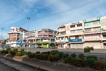 Shops Along The Street In Sabindo Quarter Of Tawau