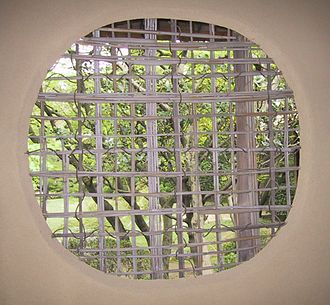Jō-an - Latticed bamboo window