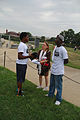 Teenage boys talking with a librarian - 50th Anniversary of the March on Washington for Jobs and Freedom.jpg