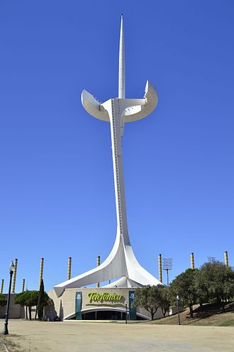 Telefónica - Telefonica Tower in Barcelona.