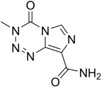 Temozolomide structure.png