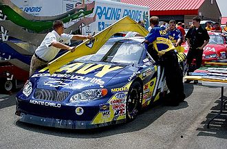 NASCAR Xfinity Series - NASCAR officials are using a template to inspect Casey Atwood's 2004 Busch Series Chevrolet Monte Carlo